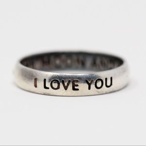 Jewelry - Sterling Silver I LOVE YOU Band Ring 8.75